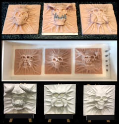 Process after sculpting. by WireClay