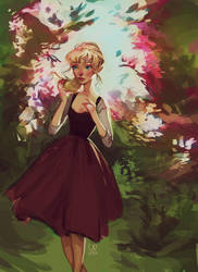 Cinderella in the Garden by sarucatepes