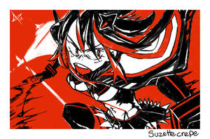 Red Ryuko by suzettecrepe