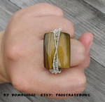 Yellow Tiger Eye Ring by DombiHugi
