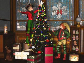 Christmas Helpers by NEONnyc