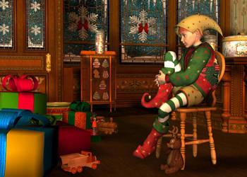The Satisfied Elf by NEONnyc