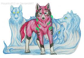 Blue Wolf Spirit .:G:. by RedSoulWolf13