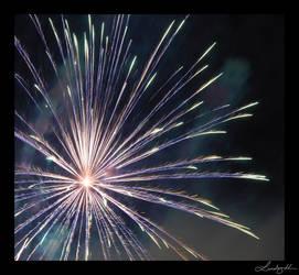 Blue Firework by lynsea