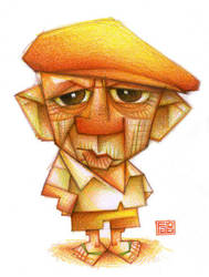 Picasso con gorra by faboarts