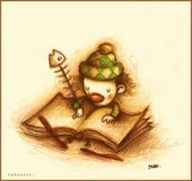 Escribiendo sus memorias. by faboarts