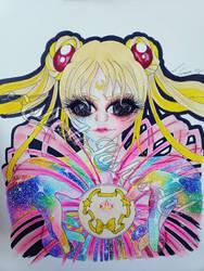 Sailor Moon Transformation  by AshestoLashesArt