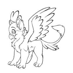 Color-Me Gryphon by demented1