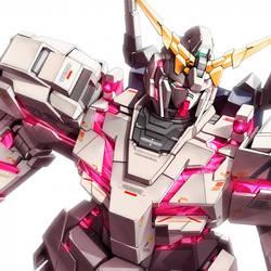 Unicorn Gundam unit 1 by zerokaiser