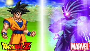 Goku vs Blackheart by scott910