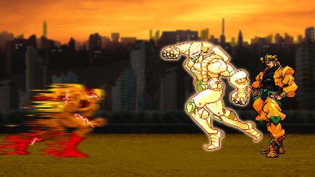 Reverse Flash vs Dio by scott910