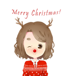 Merry Christmas | Reindeer | Postcard by CastielTheHalfPigeon