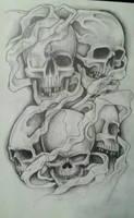 smokey skulls by 76Bev