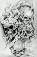 Smokey skulls 2 by 76Bev