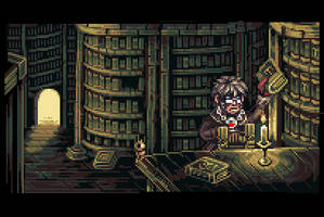 Gideon's library by Neoriceisgood