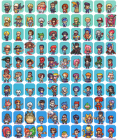100 Manga and Anime Sprites by Neoriceisgood