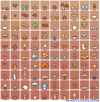 100-fungi-sprites-by-neorice by Neoriceisgood