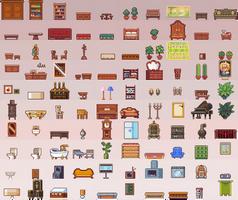 100 furniture sprites by Neoriceisgood