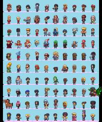 100 Hero Oh Hero Sprites by Neoriceisgood