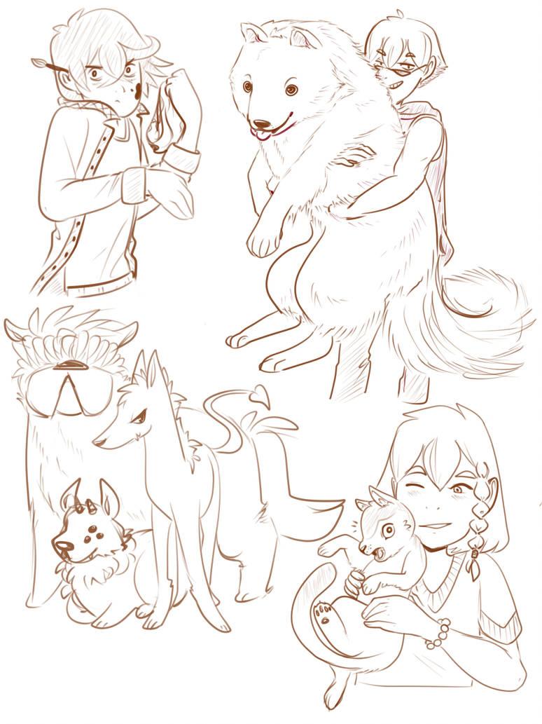 OC doodles by aikawarazu-desu