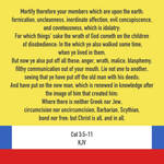 Col 3:5-11 KJV by CreativeChristianity