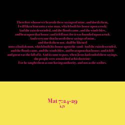 Mat 7:24-29 KJV by CreativeChristianity