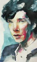 Sherlock Watercolor by chunkymacaroni