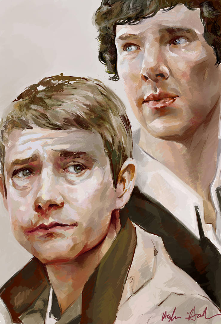 Sherlock Holmes and Doctor Watson by chunkymacaroni