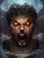 Burning Rage in a Frozen Prison by Jackal0fTrades