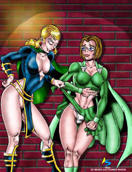 Centennia and Jeanette - Dark Alley by Captain86