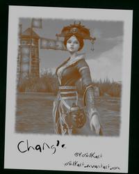 SMITE - Chang'e Polaroid by Yosh1Kart