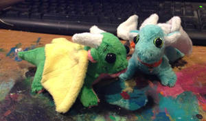 Baby Dragon Plushes by omfgitsbutter