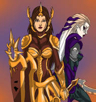 Leona and Diana by mcsanchez019