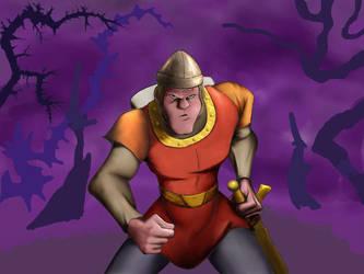Dirk the Daring WIP by bennettua