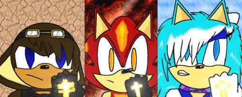 New Team Pose by xBlazeTheHedgehogx