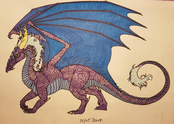Purple Dragon by TurtleClairou
