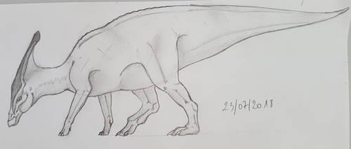 Parasaurolophus by TurtleClairou