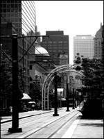 B and W Buffalo: Main Street by bdusen