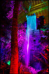 Night Lights, Part 2: Electric Waterfall by bdusen