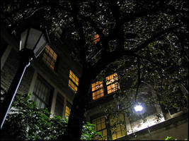 Courtyard at Midnight by bdusen