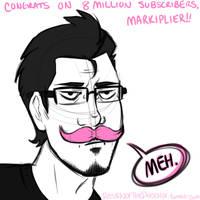 SKETCH: Happy 8 Million, Markimoo! by Loopawn