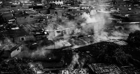 Burning city by myndsnare