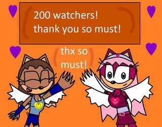 200 watchers! by biekgirl100