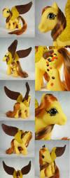 Peanut Butter Princess custom pegasus by Woosie
