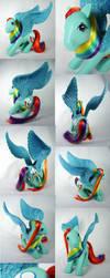FiM G1 Rainbow Dash custom pegasus by Woosie