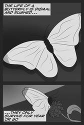 Papilo Page 1 {Grayscale} by The-Sly-Zoroark