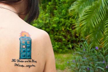 TARDIS Tattoo by RaychulWhatsername