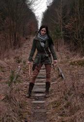 ROTTR Lara in the woods by konradM96