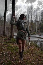 ROTTR Lara Croft on the hunt by konradM96