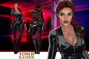 Tomb Raider Lara Croft Catsuit model release by konradM96